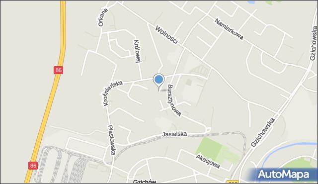 Będzin, Basztowa, mapa Będzin
