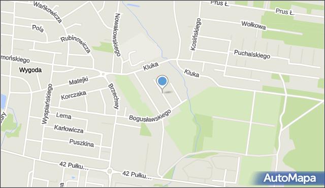 Białystok, Baczyńskiego Krzysztofa Kamila, mapa Białegostoku