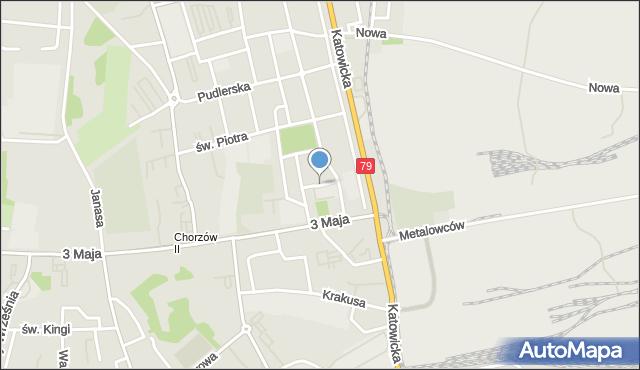 Chorzów, Barska, mapa Chorzów