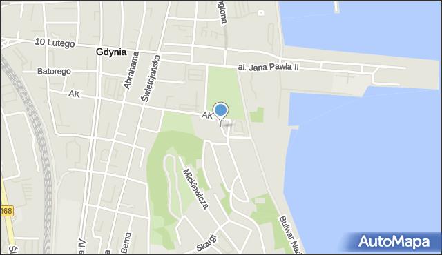 Gdynia, Baduszkowej Danuty, mapa Gdyni