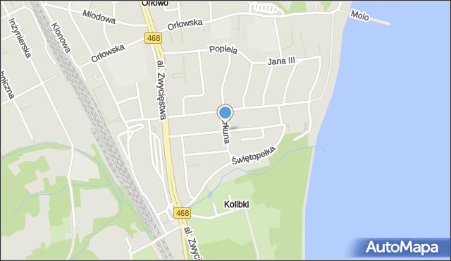 Gdynia, Balladyny, mapa Gdyni