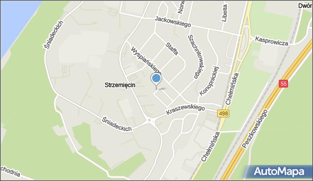 Grudziądz, Baczyńskiego Krzysztofa Kamila, mapa Grudziądza