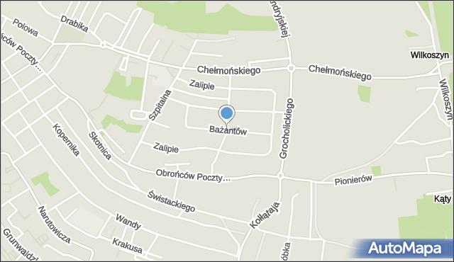 Jaworzno, Bażantów, mapa Jaworzno