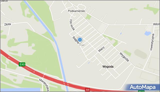 Jaworzno, Bagno, mapa Jaworzno
