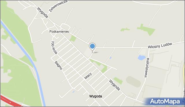 Jaworzno, Banasika Szymona, mapa Jaworzno