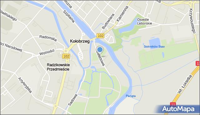 Kołobrzeg, Basztowa, mapa Kołobrzegu