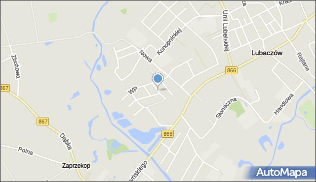 Lubaczów, Batalionów Chłopskich, mapa Lubaczów