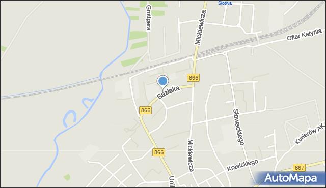 Lubaczów, Baziaka Eugeniusza, abp., mapa Lubaczów