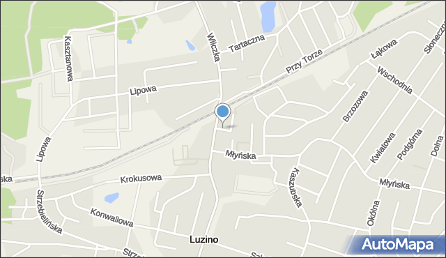 Luzino, Bankowa, mapa Luzino