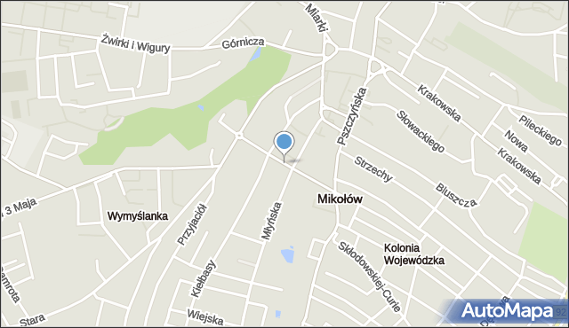 Mikołów, Bandurskiego Władysława, ks. bp., mapa Mikołów