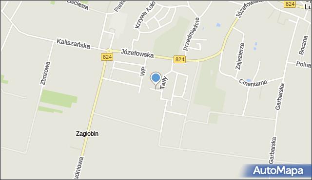 Opole Lubelskie, Batalionów Chłopskich, mapa Opole Lubelskie