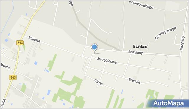 Pokrówka, Bazylany, mapa Pokrówka
