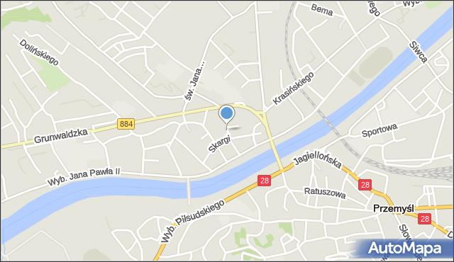 Przemyśl, Barska, mapa Przemyśla