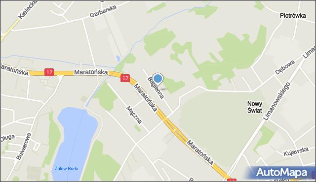 Radom, Bagienna, mapa Radomia