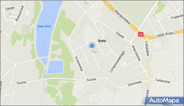 Radom, Batalionów Chłopskich, mapa Radomia