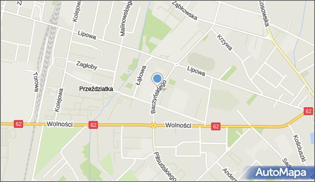 Sokołów Podlaski, Baczyńskiego Krzysztofa Kamila, mapa Sokołów Podlaski