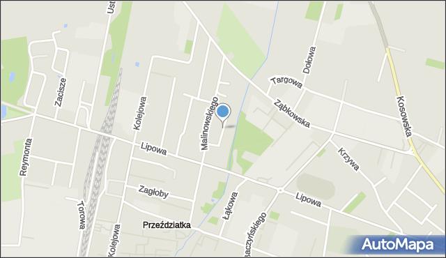 Sokołów Podlaski, Bajkowa, mapa Sokołów Podlaski