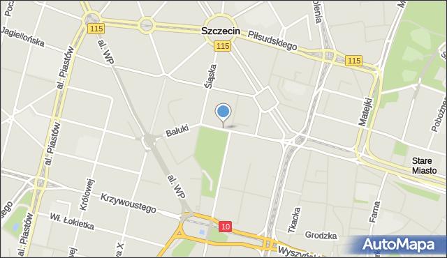 Szczecin, Bałuki Edmunda, mapa Szczecina