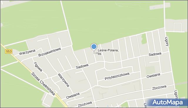 Toruń, Bananowa, mapa Torunia