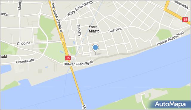 Toruń, Bankowa, mapa Torunia