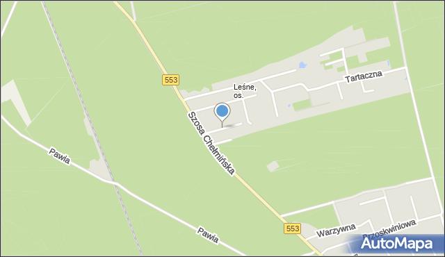 Toruń, Bartnicza, mapa Torunia