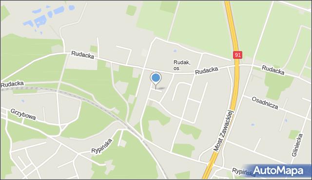 Toruń, Basieńki, mapa Torunia