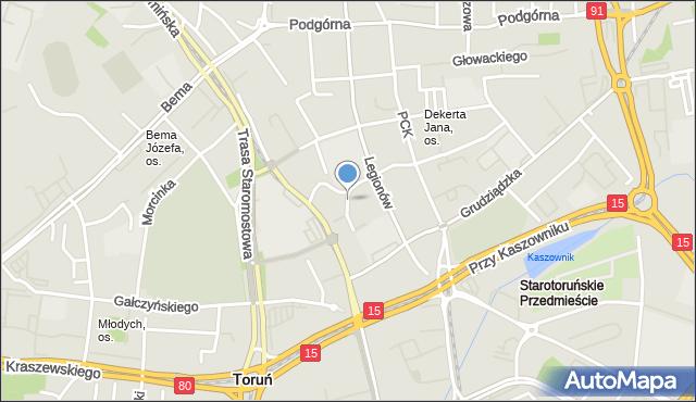 Toruń, Bawarczyków, mapa Torunia