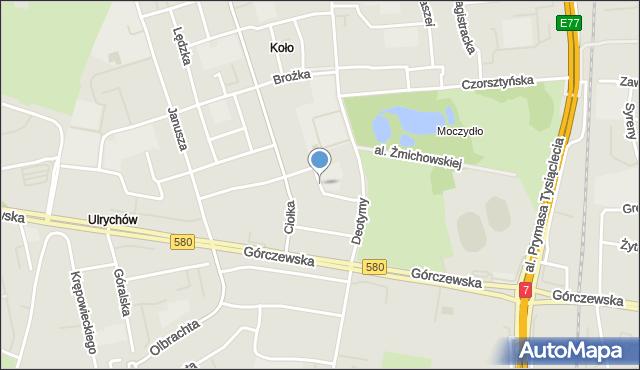 Warszawa, Batalionu AK Pięść, mapa Warszawy