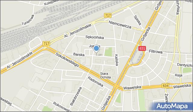 Warszawa, Barska, mapa Warszawy