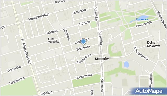 Warszawa, Bałuckiego Michała, mapa Warszawy