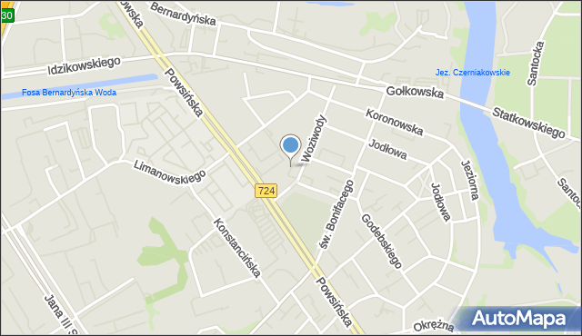 Warszawa, Batalionu AK Oaza, mapa Warszawy