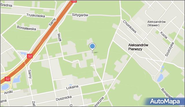 Warszawa, Barcewicza Stanisława, mapa Warszawy