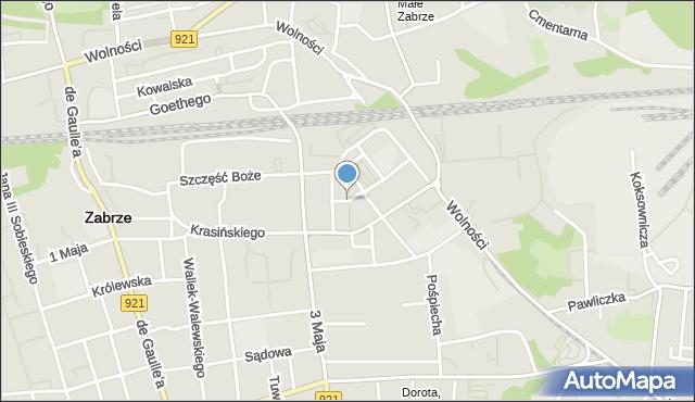 Zabrze, Bankowa, mapa Zabrza