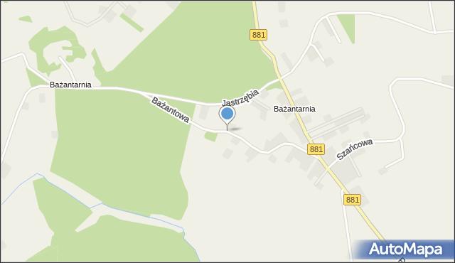 Żurawica powiat przemyski, Bażantowa, mapa Żurawica powiat przemyski