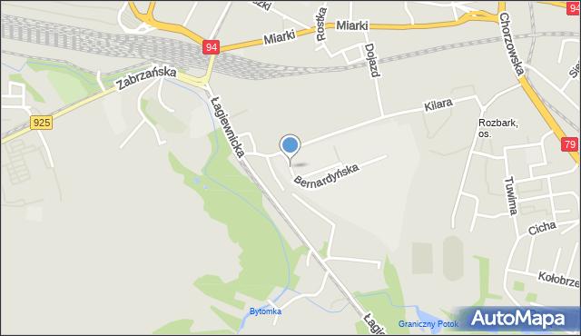 Bytom, Bernardyńska, mapa Bytomia