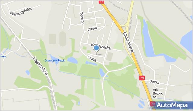 Bytom, Bema Józefa, gen., mapa Bytomia
