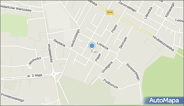 Chełm, Bema Józefa, gen., mapa Chełma