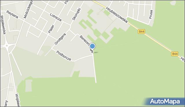 Chełm, Berezeckiego Zygfryda, ks., mapa Chełma