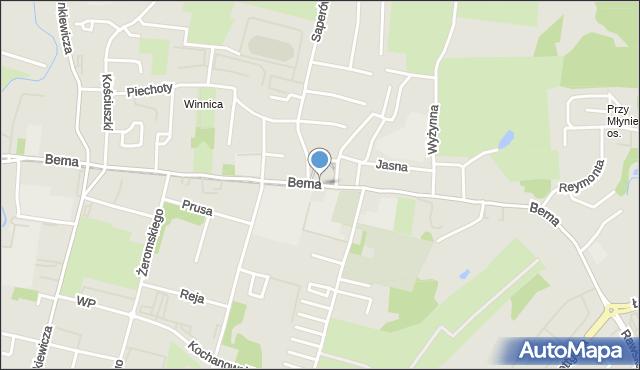 Elbląg, Bema Józefa, gen., mapa Elbląga