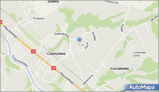 Limanowa, Bednarczyka Piotra, bp., mapa Limanowa
