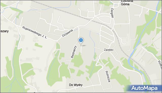 Limanowa, Bednarzy, mapa Limanowa
