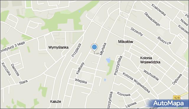 Mikołów, Bema Józefa, gen., mapa Mikołów