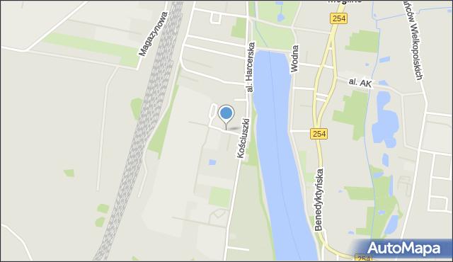 Mogilno, Betonowa, mapa Mogilno
