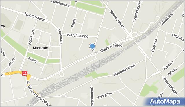 Radom, Beliny-Prażmowskiego Władysława, mapa Radomia