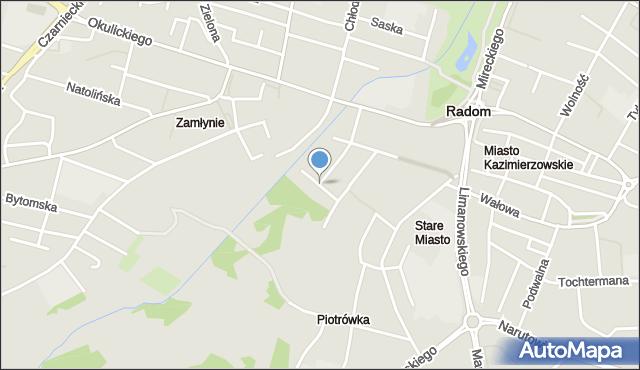 Radom, Bednarska, mapa Radomia