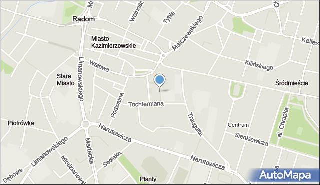 Radom, Bernardyńska, mapa Radomia