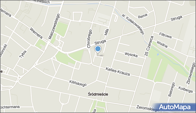 Radom, Betonowa, mapa Radomia