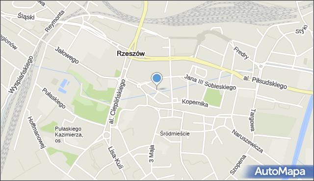 Rzeszów, Bernardyńska, mapa Rzeszów