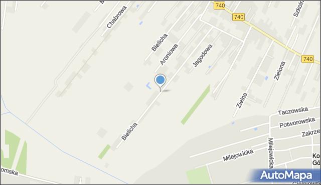 Bielicha, Bielicha, mapa Bielicha