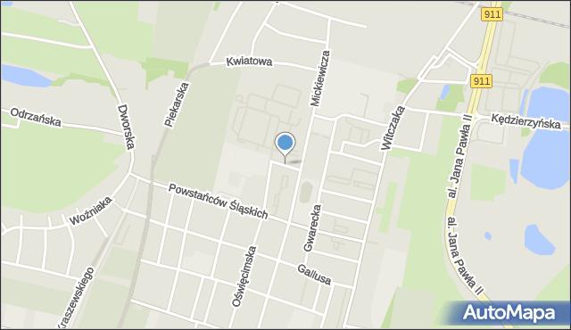 Bytom, Białego Jana, płk., mapa Bytomia